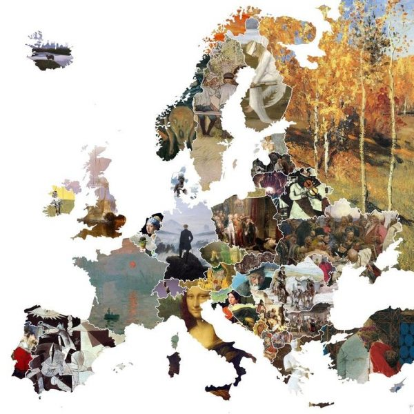 A map of Europe by each nation's most famous artwork